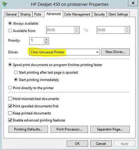 To Specify The Use Of Universal Print Driver Create A Citrix Policy Using Usage Setting Set This As Printing