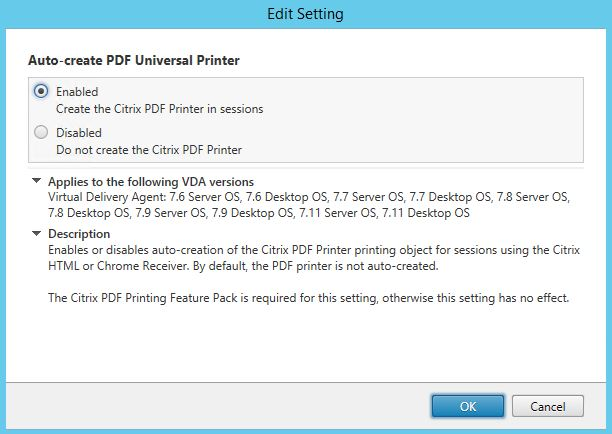 Citrix printing with Universal Print Server, Universal Print