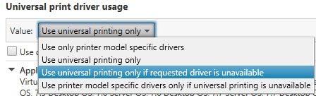 Citrix printing with Universal Print Server, Universal Print Driver