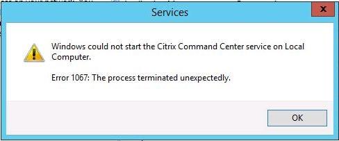 Citrix Command Center service fails to start – JGSpiers com