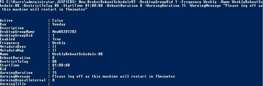 Create multiple VDA restart schedules in XenApp & XenDesktop