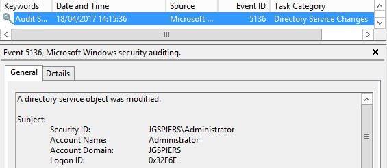 Audit Group Policy Changes – JGSpiers com
