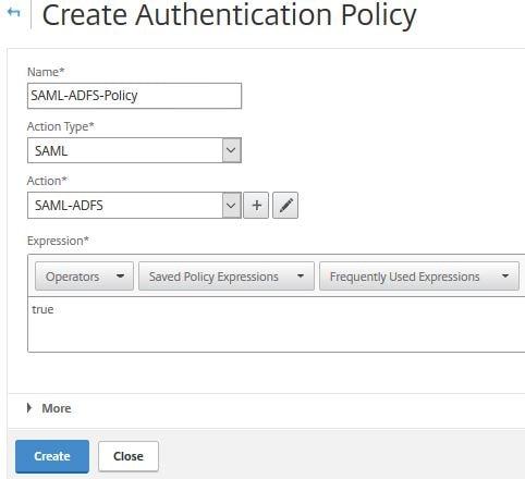 ADFS authentication to StoreFront using NetScaler, SAML and