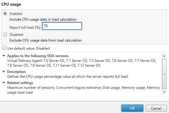 VDA Load Index for XenApp – Session Load Balancing