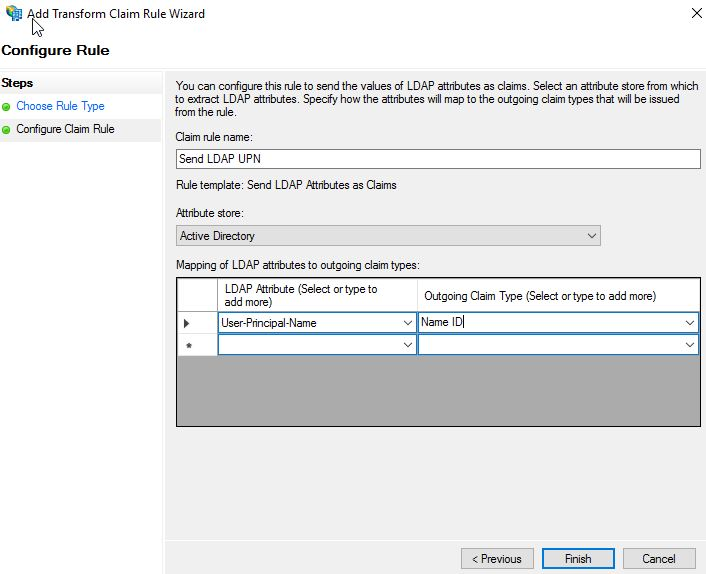 Authentication to NetScaler using AD FS 4 0 on Server 2016