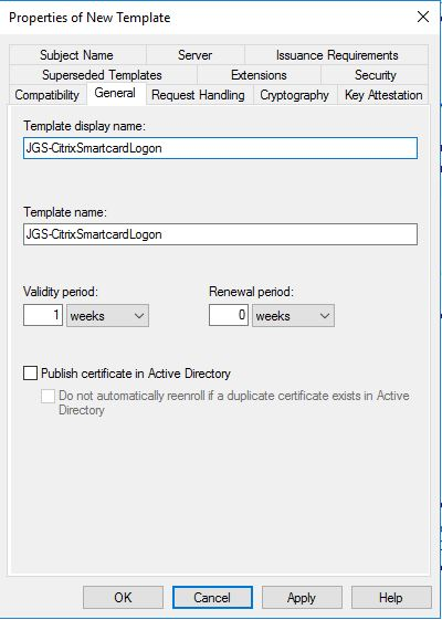The requested certificate template is not supported by this ca