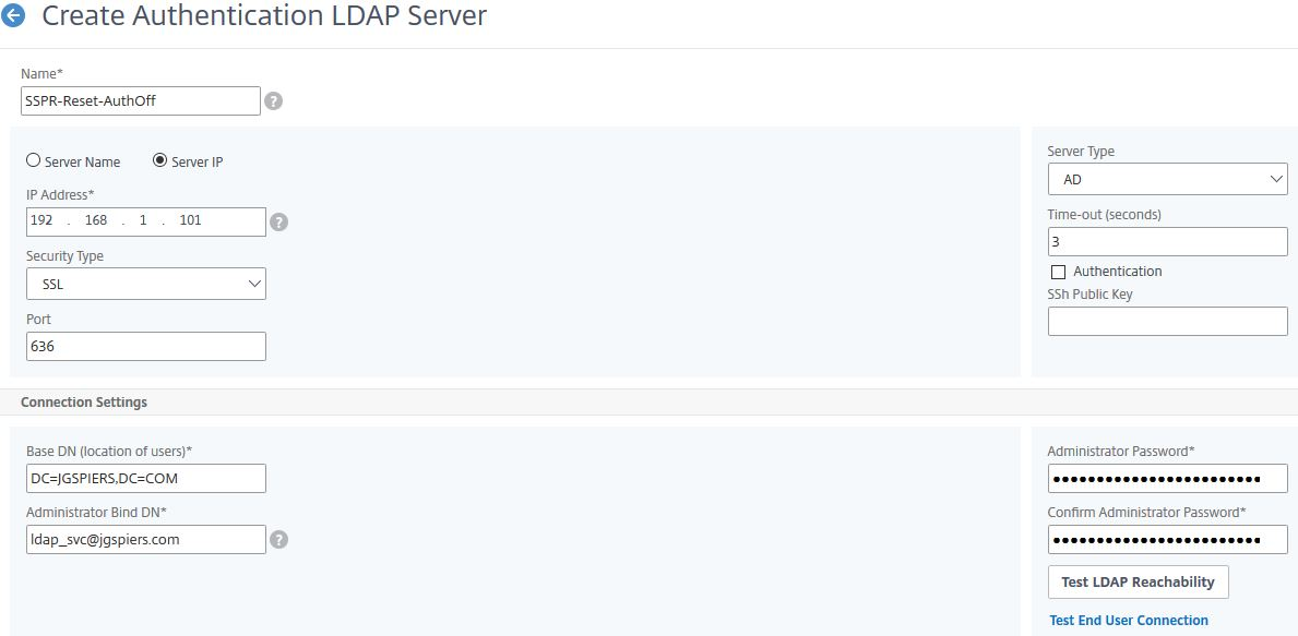 Citrix ADC Self-Service Password Reset – JGSpiers com