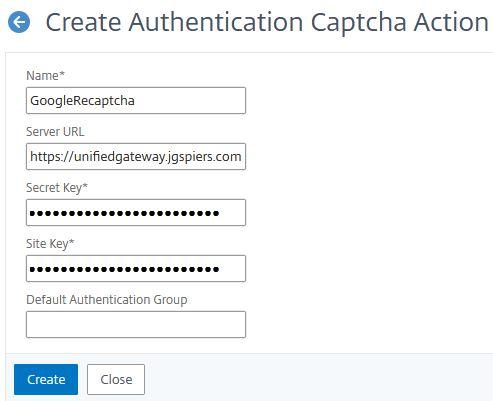 Citrix ADC nFactor authentication – Google reCAPTCHA first factor